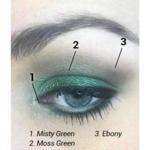 Styling mit highlights und mineral make up eyeshadow